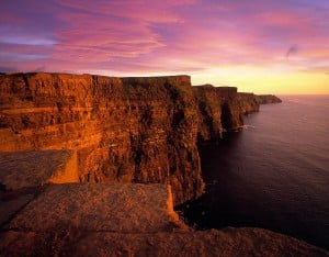 Spectactular Sunset at the Cliffs of Moher, Co. Clare