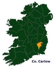 Carlow Map Of Ireland.Map Of Carlow In Ireland Irish Incoming Tour Operator Destination