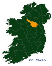 Map Of Ireland Cavan.Map Of Cavan In Ireland Irish Incoming Tour Operator And Destination