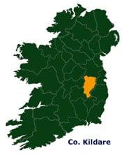 Map Of Kildare In Ireland Irish Incoming Tour Operator And