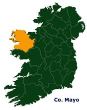 Map Of Ireland Mayo.Map Of Mayo In Ireland Irish Incoming Tour Operator And Destination