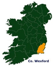 Map of Wexford in Ireland,Irish incoming tour operator and