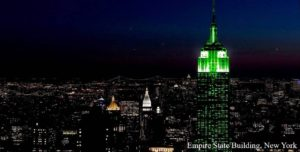 World Goes Green for St. Patrick's Day